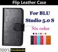 De Lujo más nuevo Tirón de la Carpeta caso de la cubierta de Cuero para BLU Estudio 5.0 S Flip soporte y titular de la tarjeta de crédito + envío Gratis