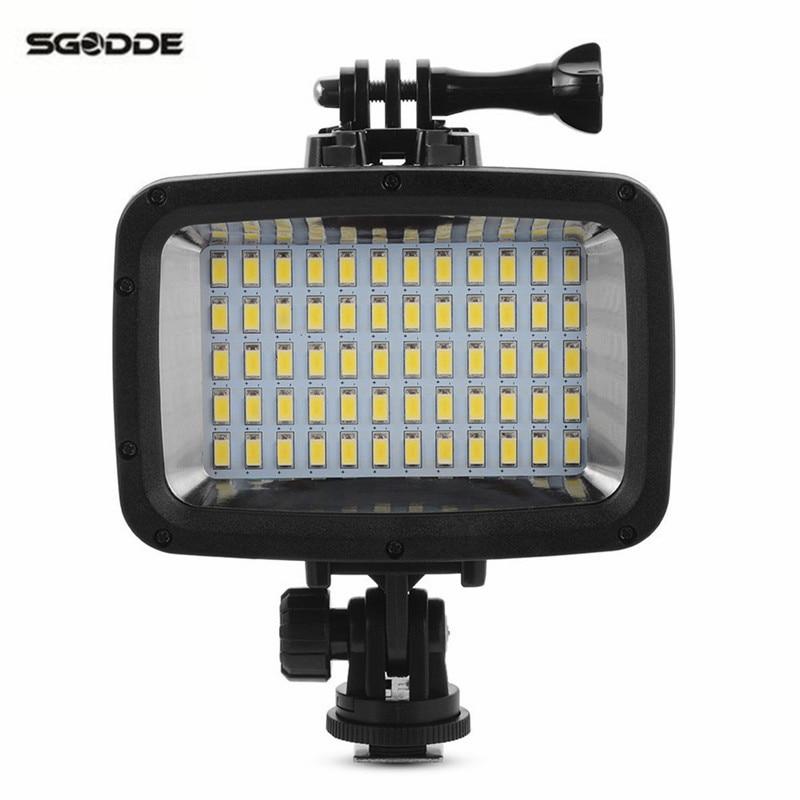 Pool 60 LED Filter Waterproof Camera Diving Video Light Professional Camcorder Lamp 1800LM 40m Diving for GoPro Hero For DSLR