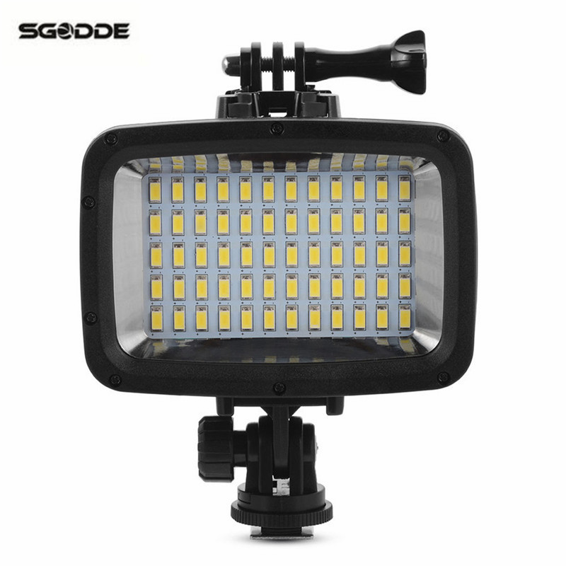 Pool 60 LED Filter Waterproof Camera Diving Video Light Professional Camcorder Lamp 1800LM 40m Diving for GoPro Hero For DSLR o2 spas rising dragon escape c50 pool filter cartridge element 345x125mm
