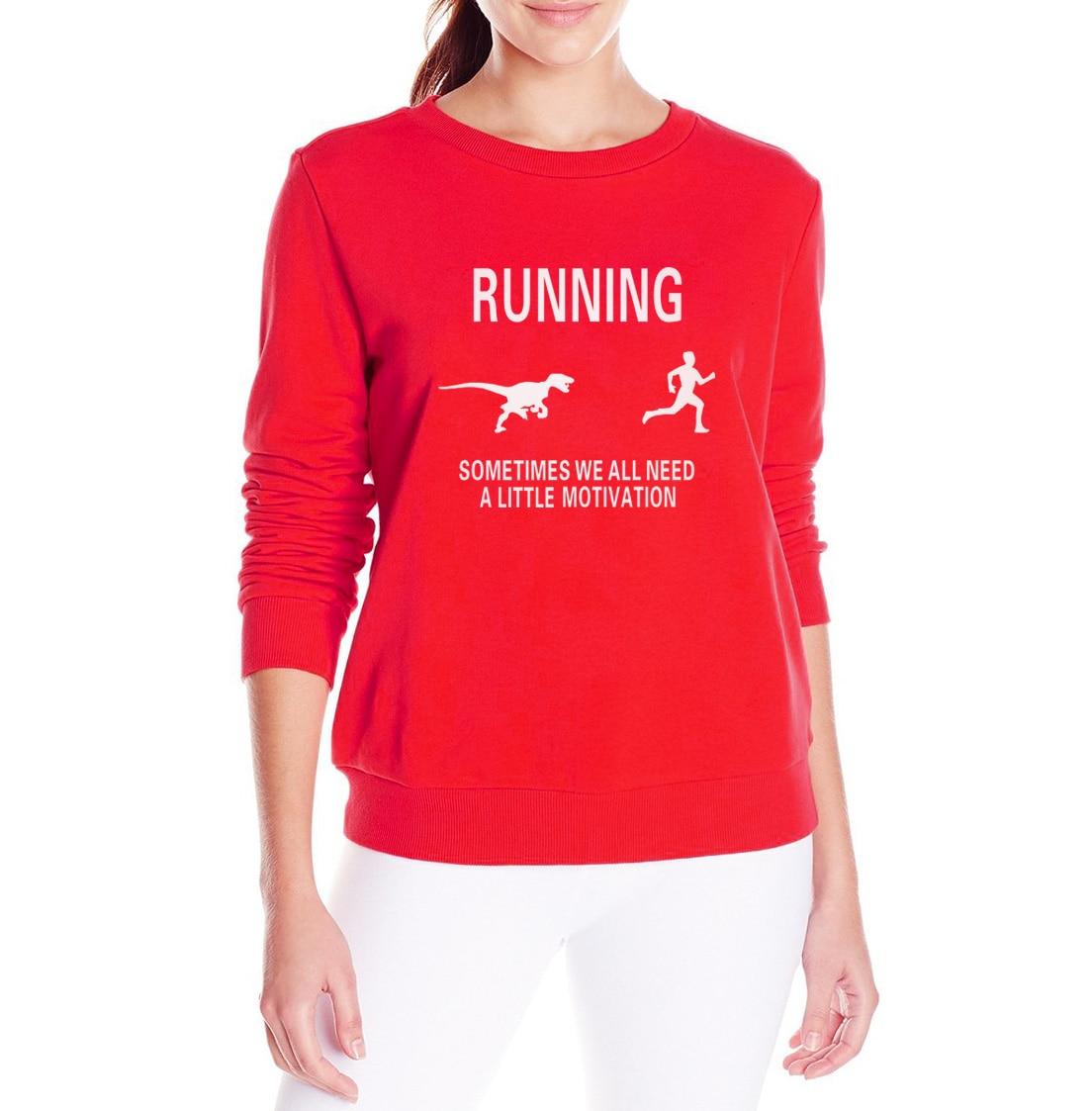 Humorous Running Motivation Raptor Chase Hoodies Men Funny Dinosaur Sweatshirts Winter Thick Fleece Warm Camouflage Jackets Mens Coats Hoodies & Sweatshirts