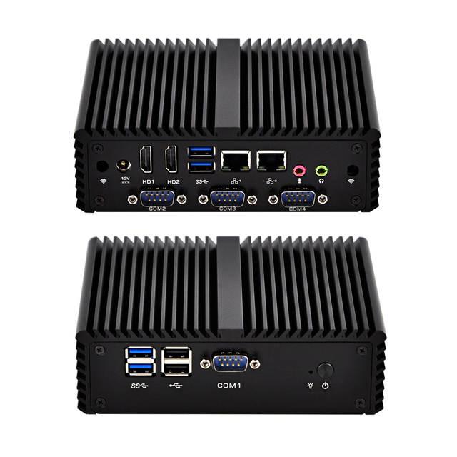 US $184 61 5% OFF 2018 New Intel I5 I7 Quad Core Ultra Low Power Thin  Desktop Computer 2 Gigabit LAN Fanless Ubuntu Mini PC 12V With 4GB Ram-in  Mini