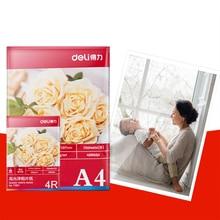 Office School Supplies - Paper - Deli 3541 Premium Glossy Photo Paper 200g A4 20sheets Per Pack Color Inkjet Printer 4880dpi