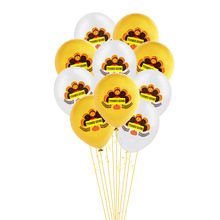 10Pcs Happy Turkey Latex Balloons Thanks Giving Day Decoration Gold Confetti Balloons Thanks Giving Day Party Supplies giving blood
