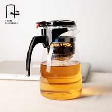 925 ML Hohe Borosilikatglas Teetassen Elegante Teekannen Blume Büro tee-Set Mit Deckel Filter Griff Rot Grün Tee Flaschen becher