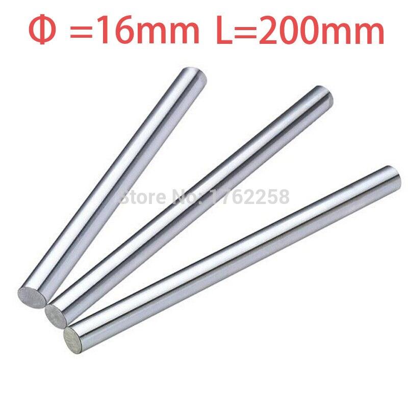 4PCS 16mm x 200mm Linear Shaft 3D Printer Cylinder Liner Rail Axis CNC Parts 4pcs od 16mm x 800mm cylinder liner rail linear shaft optical axis