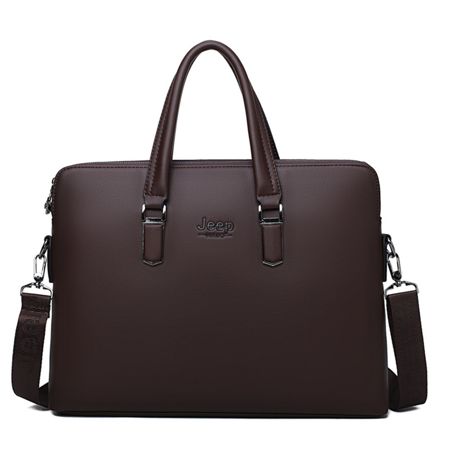 HTB1zJAPeBOD3KVjSZFFq6An9pXai JEEP BULUO Men Leather Briefcase Bag Business Famous Brand Shoulder Messenger Bags Office Handbag 14 inch Laptop High Quality