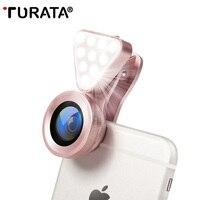 TURATA 3 In 1 HD Phone Lens Luxury LED Selfie Flash Light Beauty Fill Light 0