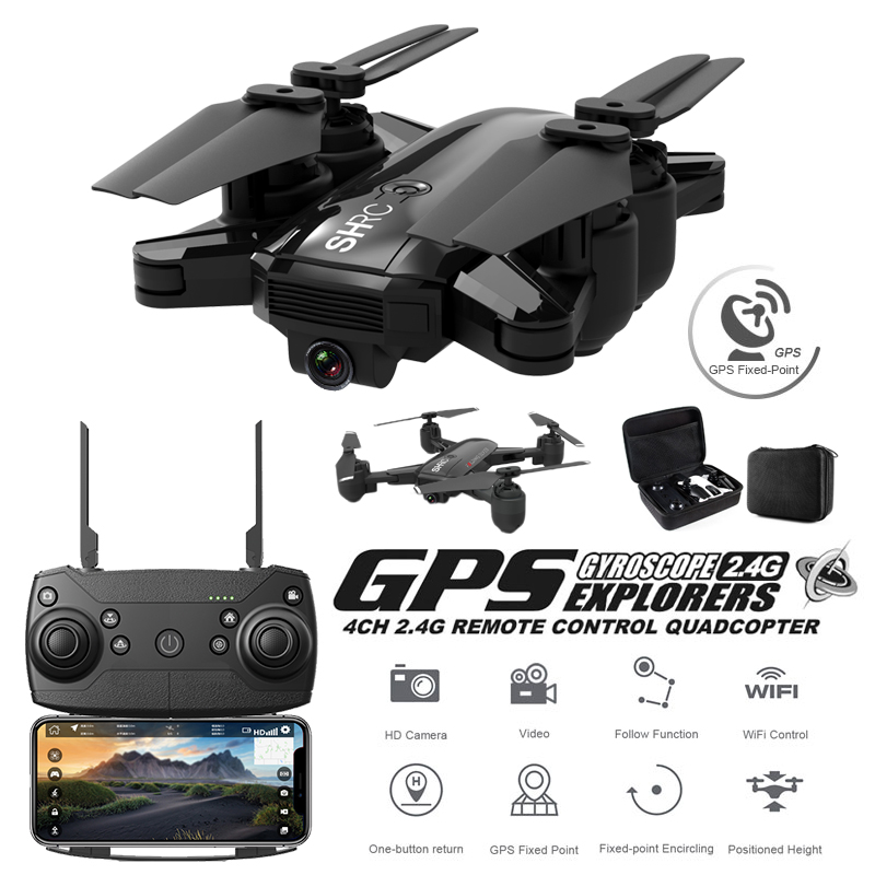 GPS Drone Quadrocopter 500 Mètres Distance Set Point Fly de Positionnement Global 1080 P Professionnel Caméra Quadcopter Avec Caméra