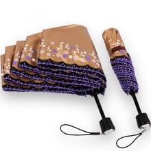 цены на Anti-thunder fiberglass windproof 5 times black coating anti-UV parasol pocket embroidery lacing digital 3Dprint travel umbrella  в интернет-магазинах