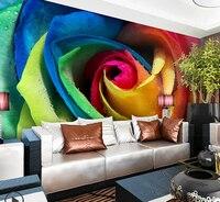 Piękne róże styl projektowania 3d tapety Kolorowe rose sygnatur papel de parede 2015 Darmowa wysyłka najnowszy wall paper