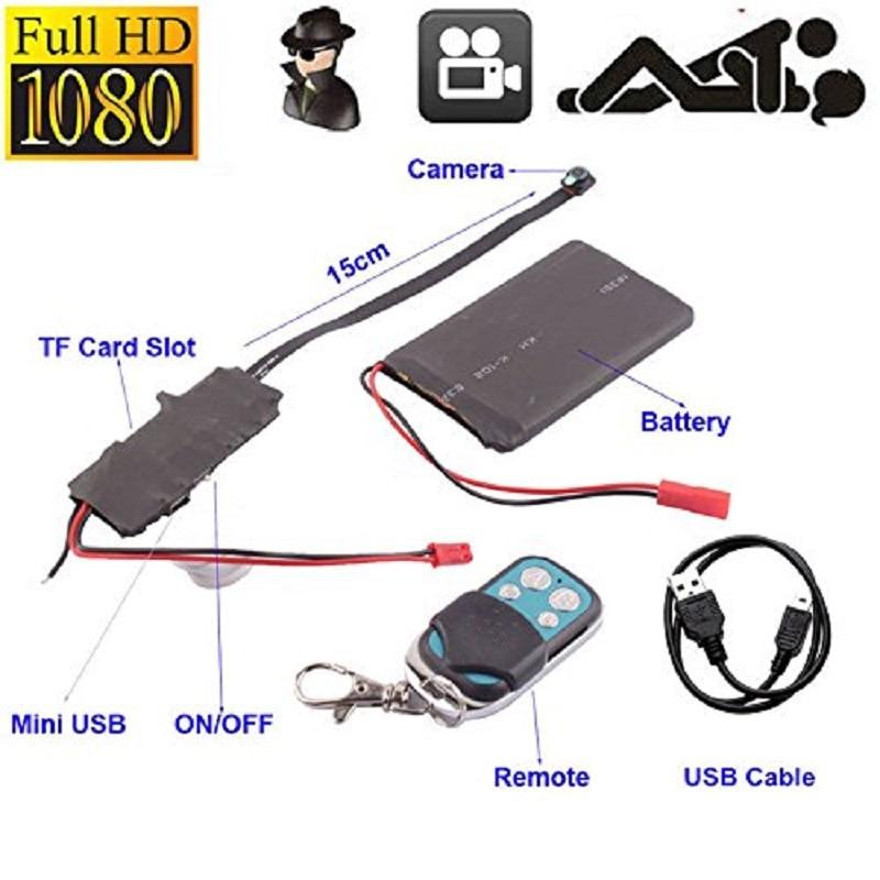 1080P HD DIY Module Camera Pinhole Camera With Wireless Remote Control Video Camera DV font b