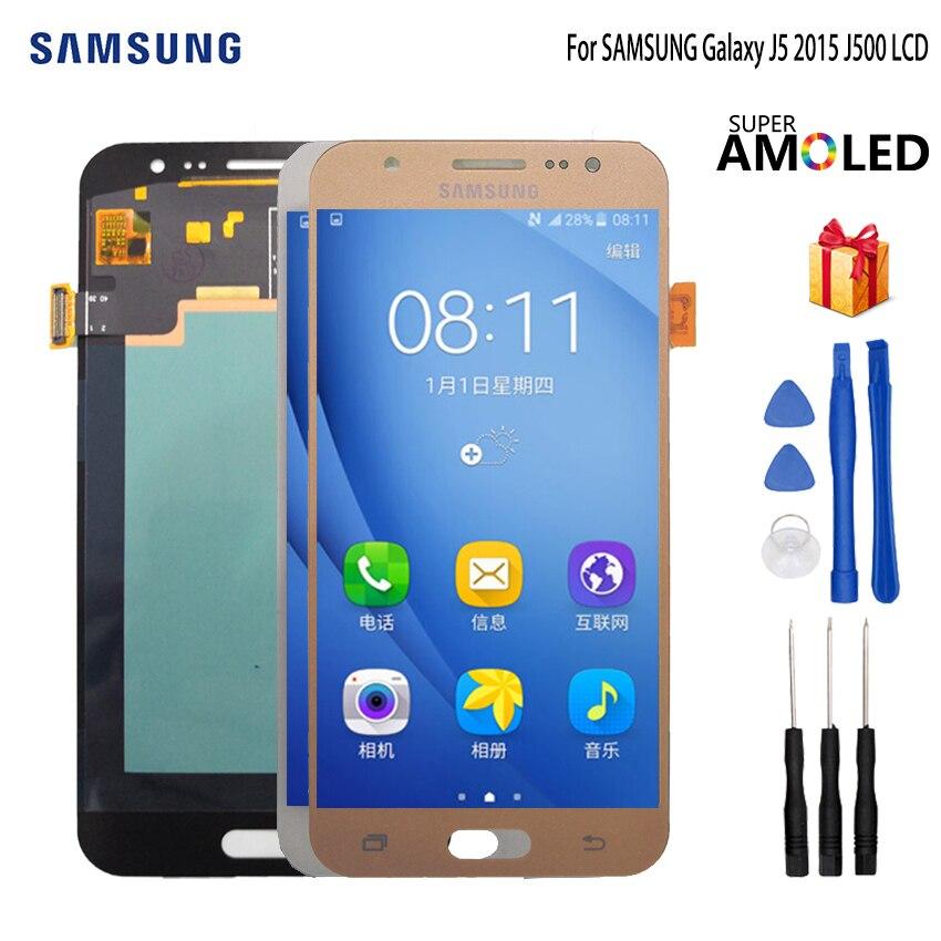 AMOLED LCD pour SAMSUNG Galaxy J5 2015 J500 LCD écran tactile J500H J500FN J500F J500M SM-J500F écran tactile LCD numériseur
