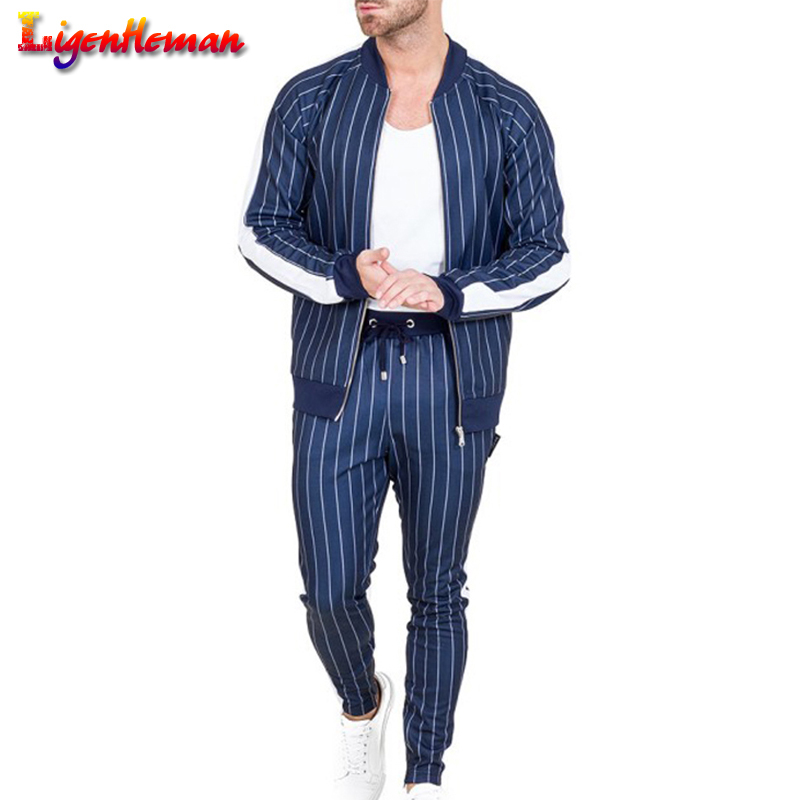 Autumn New 2019 High Street Jackets Sets Male Sweatshirt Sweatpants Multi-pocket Fashion Trousers Men's Hoodies Tracksuit Set