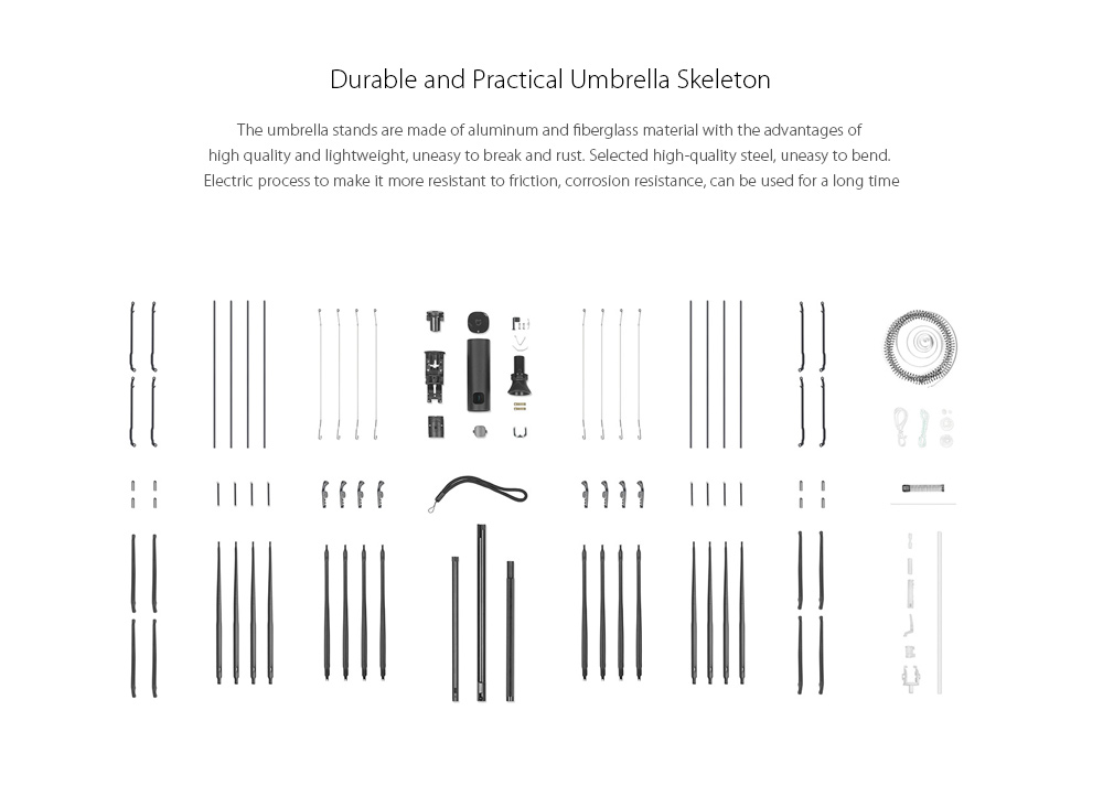 Original xiaomi mijia inteligente guarda-chuva automático para