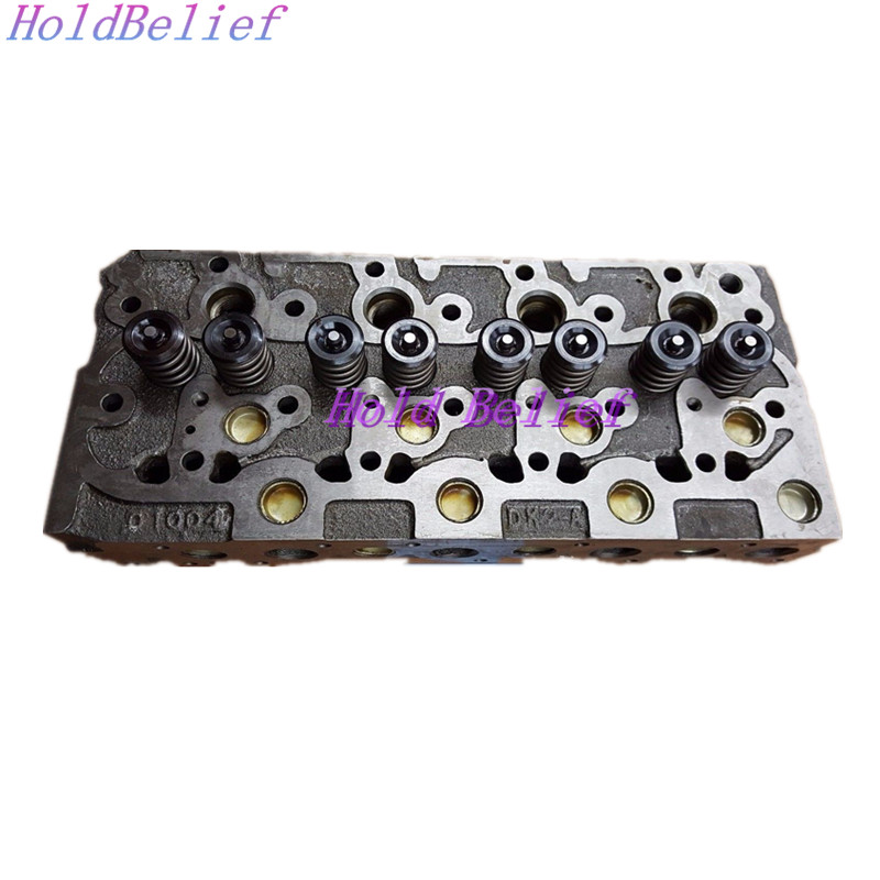 Complete Diesel Cylinder Head with Valves and Spring Installed For Kubota V1702