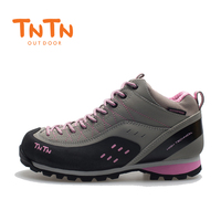 2018 TNTN Outdoor Autumn And Winter Leather Breathable Women Walking Hiking Climbing Mountain Running Shoes Women Shoes