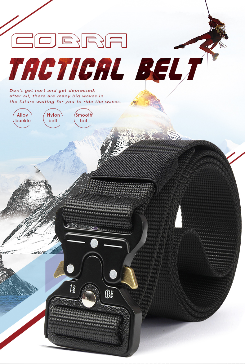 HTB1zJBPXoT1gK0jSZFrq6ANCXXaW - NO.ONEPAUL Men's Military Classic Tactical Belt High Elastic Metal Hook Outdoor Training High Quality New Nylon Soldier Belts