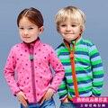 2015 nueva moda Primavera Otoño niños niñas chaqueta de lana 2-7 Años los niños ropa de abrigo abrigos bebé del juego del deporte kids sudaderas con capucha de la chaqueta