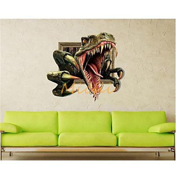 Online Shop D Effect Dinosaur Wall Stickers Wall Decals - 3d effect wall decals