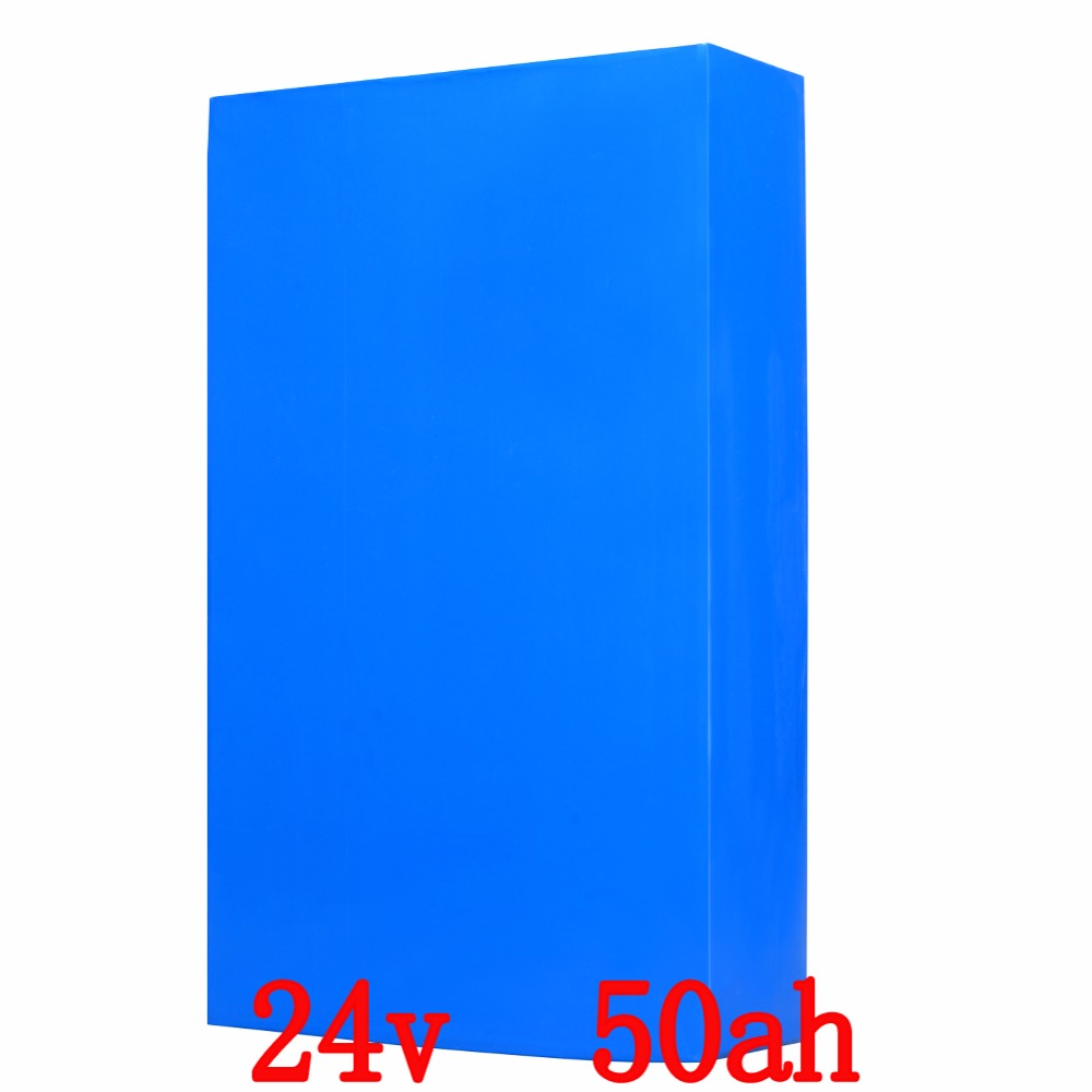 High Capacity E-Bike Electric Bike Battery Packs 24V 50AH 700W Bicycle Lithium Battery 30A BMS Li Ion 26650 Cell for  Scooter diy 48v 1000w samsung cell electric bike lithium battery 48v 30ah li ion 18650 battery with 30a bms for e bike battery