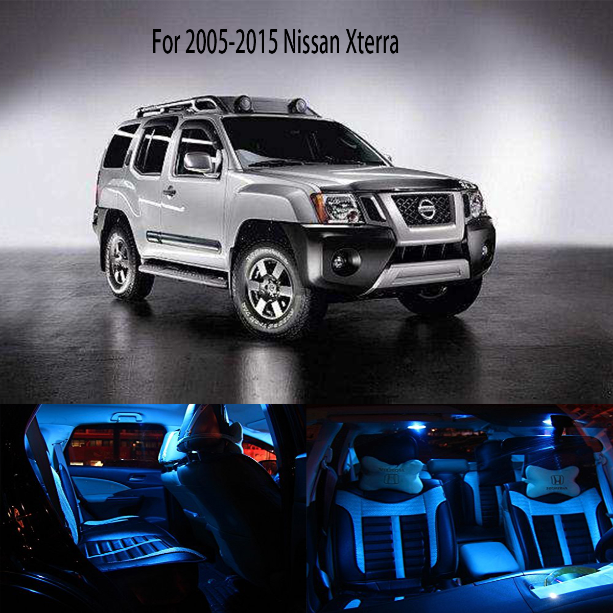 Compare prices on nissan xterra lights online shoppingbuy low 6x for 2005 2015 nissan xterra ice blue led light fit led interior package bulbs vanachro Image collections