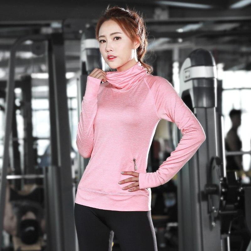 3d054ce9c Ruoskygear ماركة قمصان النساء اليوغا لياقة امرأة الصالة الرياضية الملابس  الرياضية قميص لتشغيل موهير النساء سفينة حر