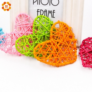 5PCS 2 Sizes Heart Star Rattan Ball Colorful Sepak Takraw For Christmas Birthday Party Home Wedding Party Decoration Rattan Ball