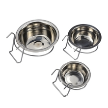Pet Hanging Bowl For Small Dogs Hanging Stainless Steel Dog Single Bowl Pet Dish Food Water Feeder For Small Medium Pet Dog Bowl цены