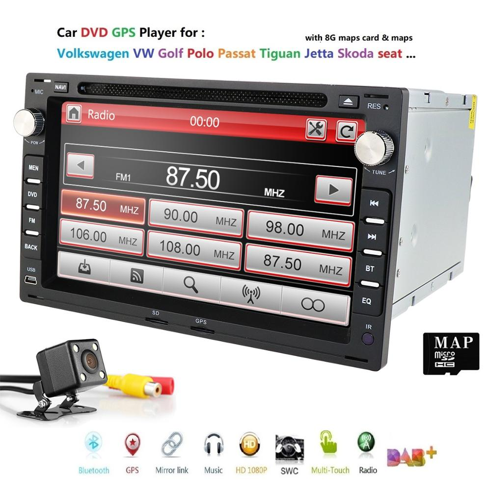 Car DVD GPS Radio For Old <font><b>VW</b></font> Transporter T4/T5 Bora Passat Mk5 <font><b>Golf</b></font> Mk4 Polo Jetta radio stereo car multimedia player head unit image