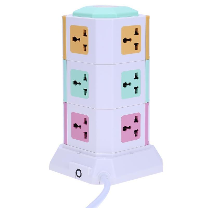 3 Couche Prise D'alimentation Universelle Intelligente Électrique Socket Bouchons 11 Sortie 2 USB Ports Carte de Puissance De Surtension US EU UK Plug