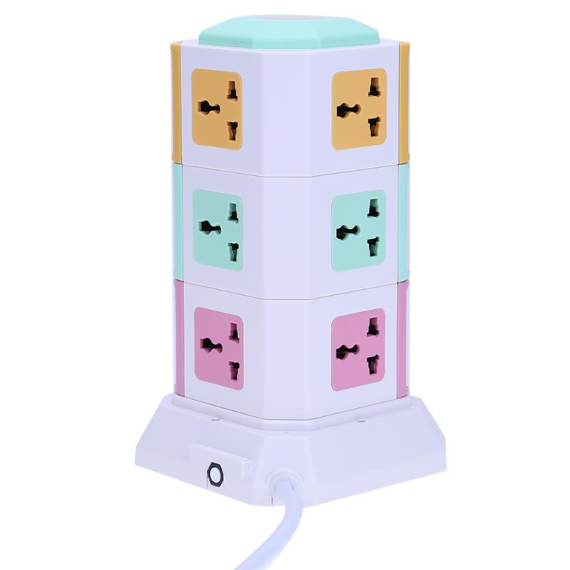 цена на Universal Smart 3 Layer Power Socket Electrical Socket Plugs 11 Outlet 2 USB Ports Surge Protector Power Board US EU UK Plug
