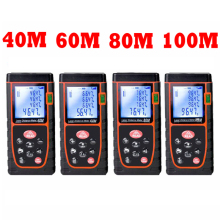 40M 60M 80M 100M Digital Laser distance Measurer meter Laser Range finder trena tape measure ruler Angle volume test  tools