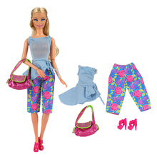 Baby Doll Wear New Alive Fashion Doll Coat Pant T-shirt Bag Shoes Clothes Set Outfit For Barbie Doll Best Gift Accessories 1/6 e ting handmade clothes for barbie doll fashion t shirt hole jeans denim overalls street style girls suit accessories toys gift