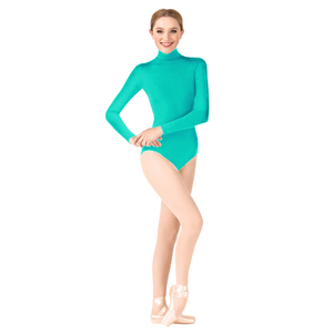 Image 2 - Женское гимнастическое трико Ensnovo, балетная Одежда для танцев, Женская балетная одежда, Женское боди с длинным рукавом, колготки
