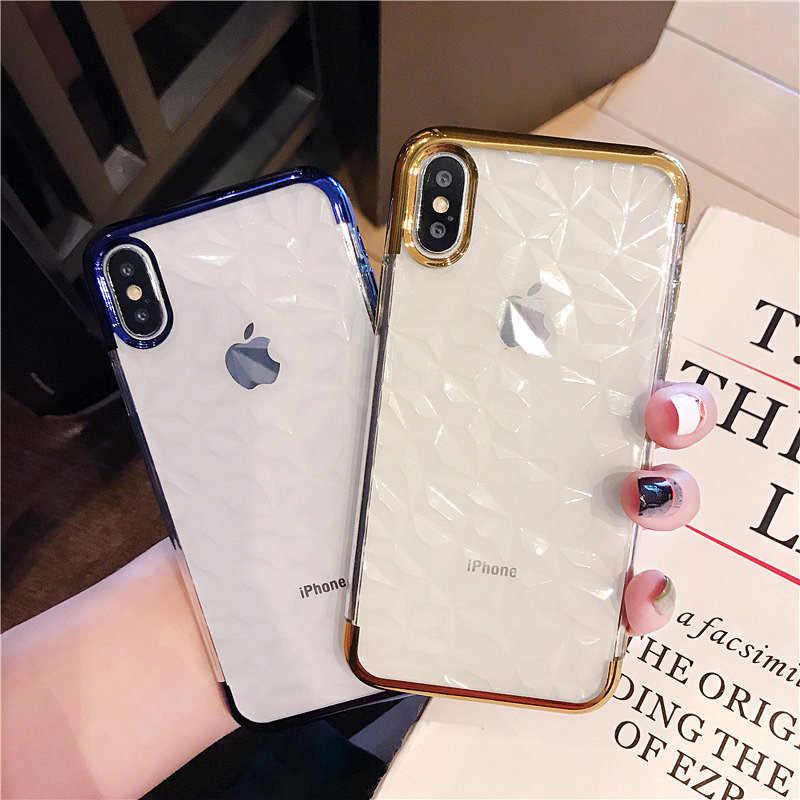 רך מקרה ברור עבור iPhone 6 s 6 s X XR XS מקסימום 8 7 בתוספת 7 בתוספת 8 בתוספת 6 בתוספת 6 SPlus עמיד הלם סיליקון טלפון סלולרי כיסוי אחורי