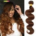 Malaysian Body Wave Wet and Wavy Bundles Brown Body Wave Honey Brown Hair Color 4# Virgin Hair Bodywave Human Hair 2#