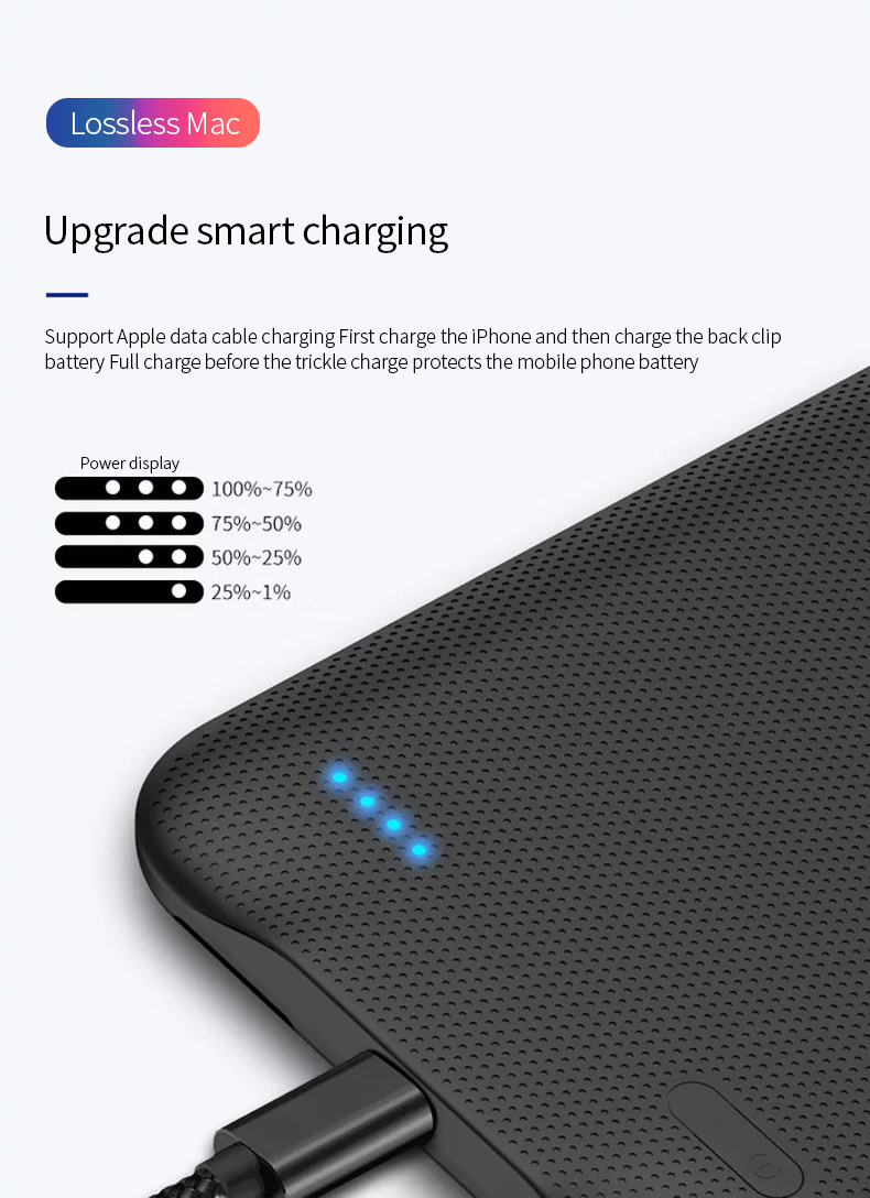 Image 4 - protable 2500 Power Bank Polymer lithium ion Battery Back clip charging phone case  Power bank battery for iPhone 6/6s/7/8-in Rechargeable Batteries from Consumer Electronics