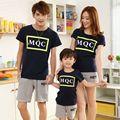 Crianças roupas de verão 2017 da família roupas combinando t-shirt + shorts de algodão boy girl clothing set pai e mãe casais ternos
