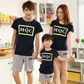 Kids Clothes 2017 Summer Family Matching Outfits  Cotton Boy Girl Clothing T-shirt + Shorts Set Father and Mother Couples Suits