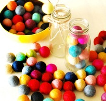 Felt Balls beads 250pc/lot Nepal Wool Ball 20MM flocking ball Wool balls Colourful beads Jewelry assorted colors Decor Rattle