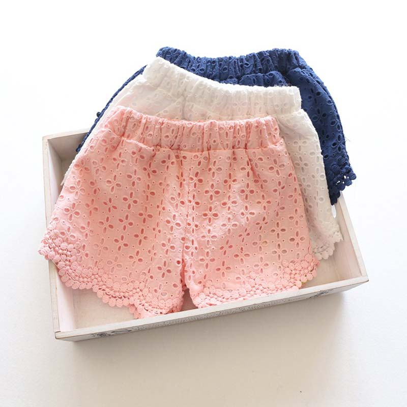 Principessa Del Merletto delle neonate bicchierini Primavera-Estate 2016 bambini shorts bambini bicchierini per le ragazze del bambino vestiti della ragazza