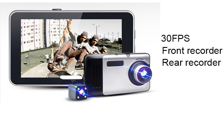 Android Car DVR Camcorder dual lens dash cam drive camera GPS Navigation video recorder Full hd 1080p auto registrator dvr wifi 16