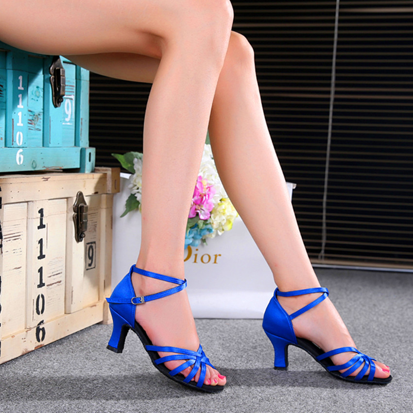 Women's shoes dance shoes Sapphire blue, black, gold, silver, shoes/High-heeled/ popular high-quality Latin dance shoes /