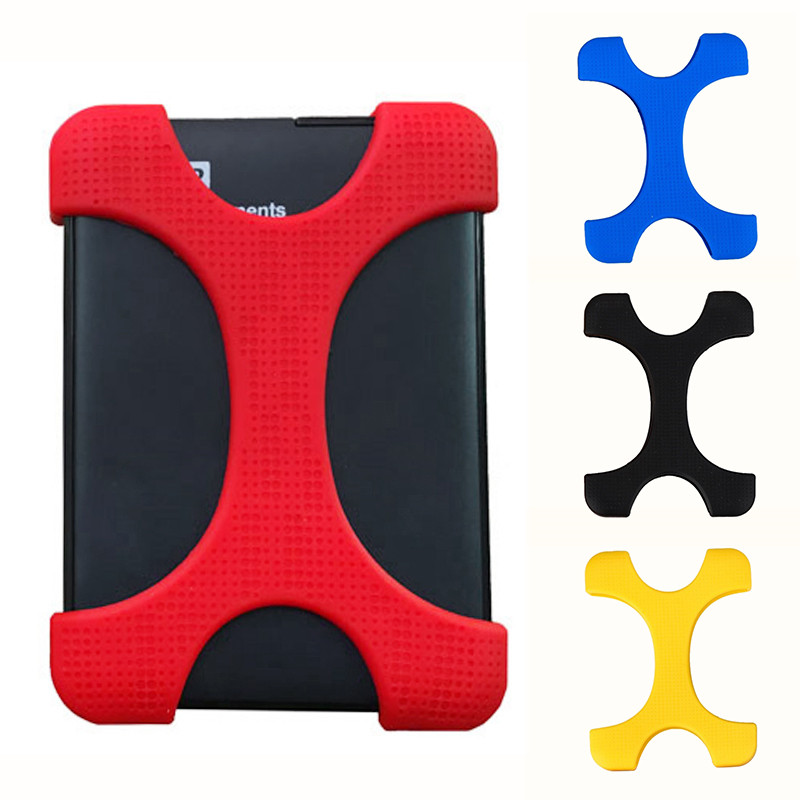 "2.5"" Portable External Hard Disk Drive Bag Carry Case Cover Silicon Rubber Case For WD Sony 2.5 Inch Colorful Hard Drives HDD"