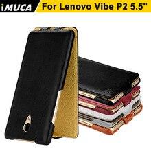 Для Lenovo p2 Чехлы для Lenovo Vibe p2 IMUCA моды искусственная кожа для Lenovo p2 Чехлы черный сумки мобильный телефон случаев
