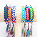 Friendship Bracelet Handmade Charm Woven Rope String Hippy Boho Embroidery Cotton Friendship Bracelets For Men Women