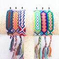 Pulsera de la amistad encanto hechos a mano cuerda tejida cadena Boho Hippy algodón bordado pulseras de la amistad para hombres mujeres