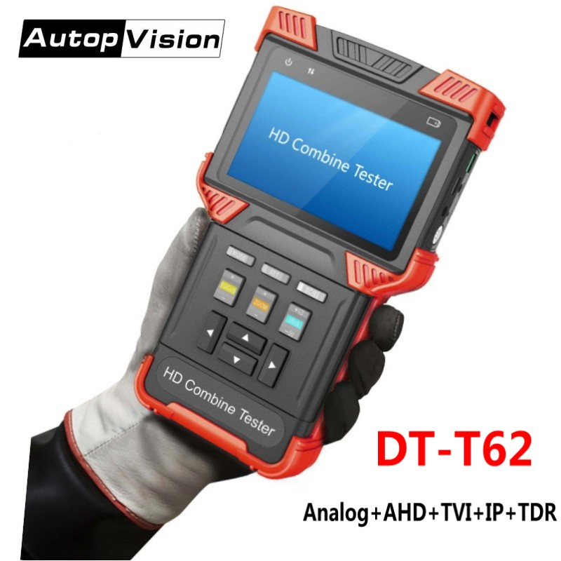 DT-T62 4.0 Inch HD Combine Tester IP CCTV Camera Tester Monitor Support Analog SD, HD-TVI,AHD,CVI,HD IPC,TDR,POE power output твердотельный накопитель ssd pci e 2tb intel p4510 series read 3200mb s write 2000mb s ssdpe2kx020t801 959393