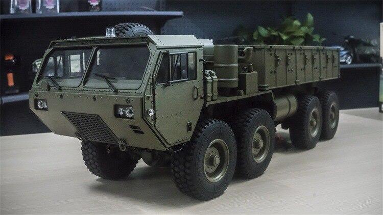 Charge 10Kg 1:12 Simulation militaire carte modèle 8 roues motrices militaire carte remorquage modèle RC télécommande véhicule jouets pour adolescents - 5