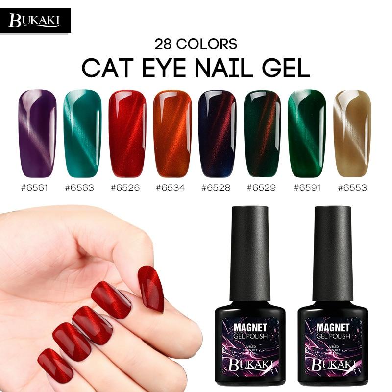 BUKAKI 3D Cat's Eye Nail Gel Varnish Magnetic Cat Eyes Effect Gel Flame Red Cat Eye Nail Polish Manicure Fire Paint Nail Art thumbnail